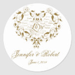 Ame en cualquier lengua en sello del sobre del oro etiquetas redondas