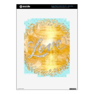Ame en el brillo, oro, plata, menta, metálico, iPad 3 skins