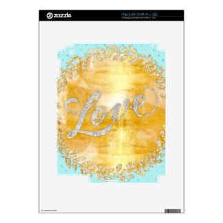Ame en el brillo, oro, plata, menta, metálico, skin para el iPad 2