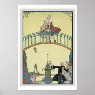 Ame en el puente, ejemplo para los 'Fetes Galant Posters