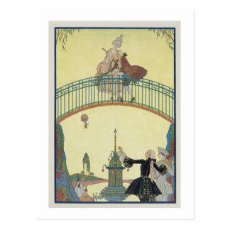 Ame en el puente, ejemplo para los 'Fetes Galant Tarjeta Postal