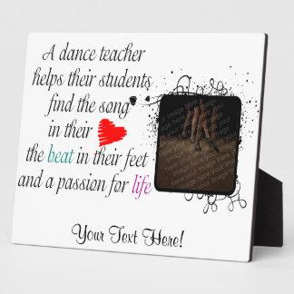 Ame enseñar a la placa de la danza