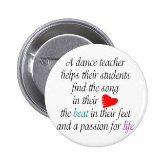 Ame enseñar a los botones de la danza pin