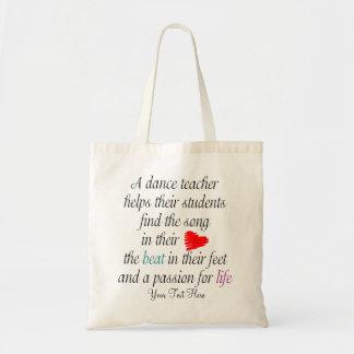 Ame enseñar al bolso de la danza - personalizable bolsas