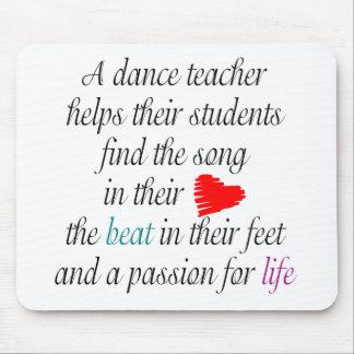 Ame enseñar al cojín de ratón de la danza alfombrilla de ratón
