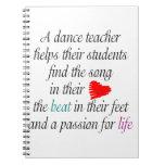 Ame enseñar al cuaderno de la danza