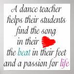 Ame enseñar al poster de la danza