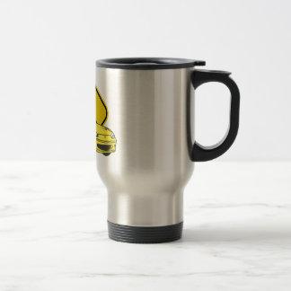 ¡Ame esas curvas - Amarillo Taza De Café