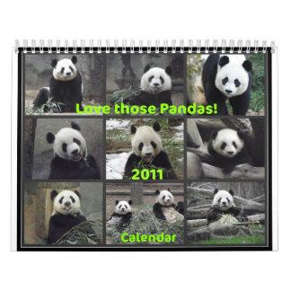 ¡Ame esas pandas 2011 Calendarios