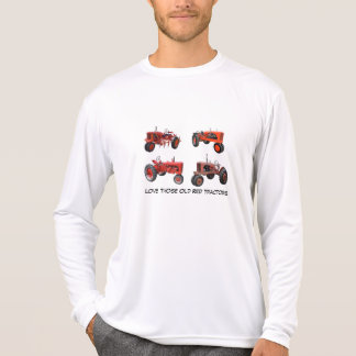 Ame esos tractores rojos viejos playera