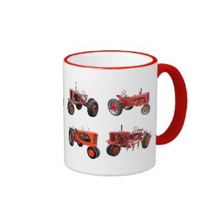 Ame esos tractores rojos viejos taza de café