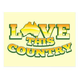 ¡Ame este país AUSTRALIA! Postal