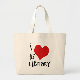 Ame la biblioteca bolsa de tela grande