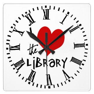 Ame la biblioteca reloj cuadrado