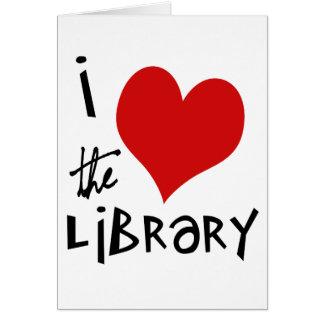 Ame la biblioteca tarjeta de felicitación