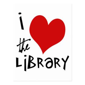 Ame la biblioteca tarjetas postales