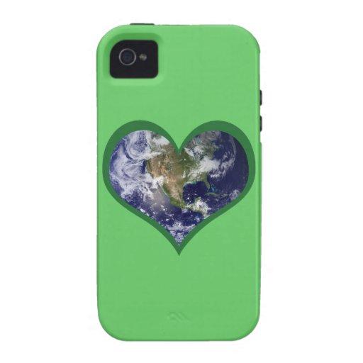 Ame la caja (verde) de la tierra iPhone 4/4S fundas