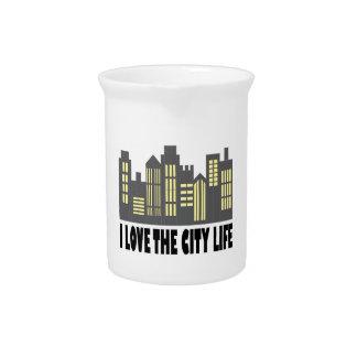 Ame la ciudad jarra de beber
