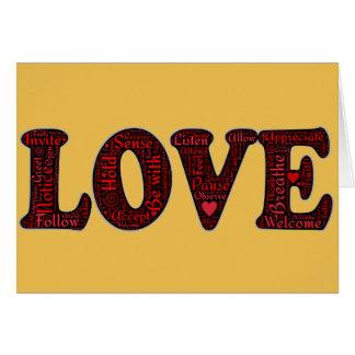 AME la creación del arte de la palabra y del emoji Tarjeta De Felicitación
