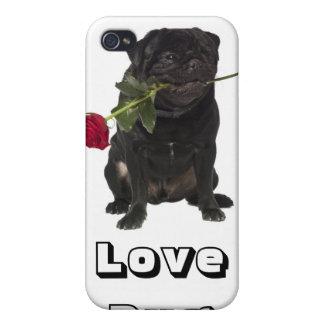 Ame la cubierta del caso del iPhone 4 del perro de iPhone 4 Fundas