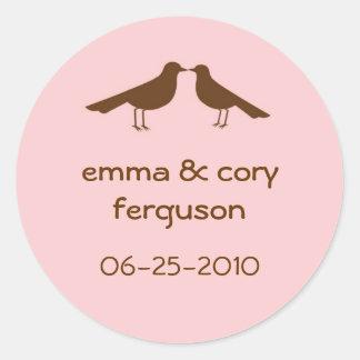 Ame la etiqueta rosada de la etiqueta del nombre