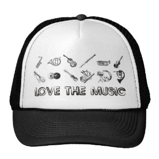 Ame la música con estos instrumentos musicales gorras de camionero