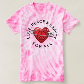 Ame la paz y la seguridad para todo el corazón playera