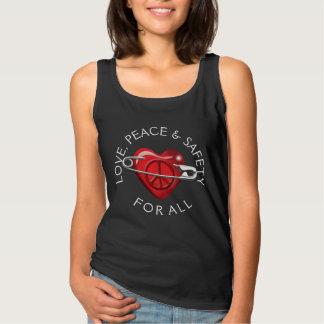 Ame la paz y la seguridad para todo el corazón playera con tirantes