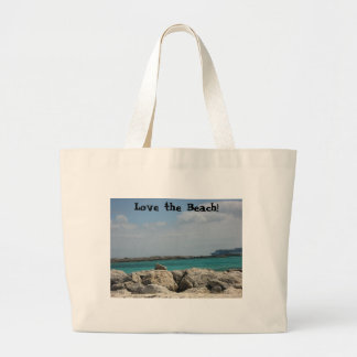 ¡Ame la playa! Bolsa Lienzo
