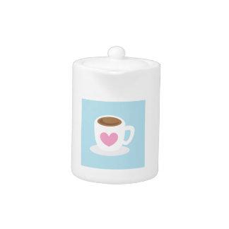 AME la taza de café del CAFÉ con un corazón del am
