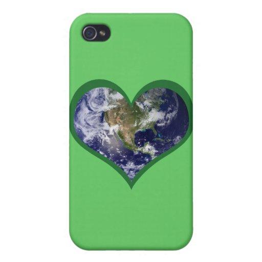 Ame la tierra (el verde) iPhone 4/4S carcasas