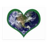 Ame la tierra (el verde) postal