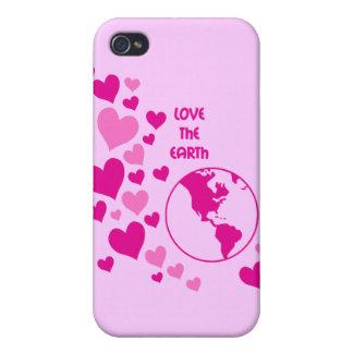 ame la tierra iPhone 4 cárcasa