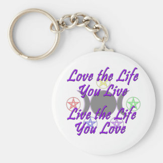 Ame la vida que usted vive llaveros personalizados