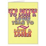 Ame las camisetas y los regalos de un perdedor par felicitaciones