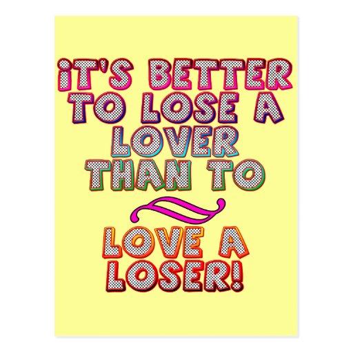 Ame las camisetas y los regalos de un perdedor par postales