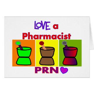 Ame las camisetas y los regalos del farmacéutico u tarjeta de felicitación