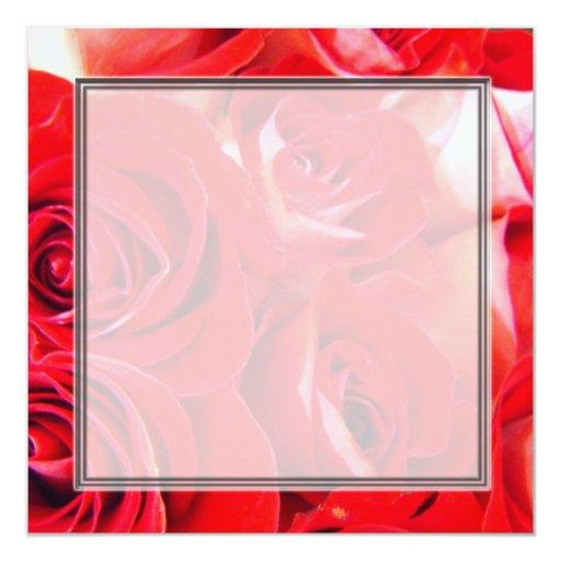 """Ame las flores boda en blanco, fiesta del rosa invitación 5.25"""" x 5.25"""""""