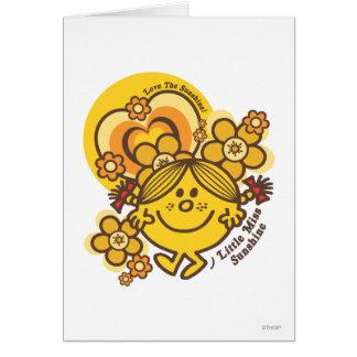 Ame las flores de la sol el | y coloréelas tarjeta de felicitación