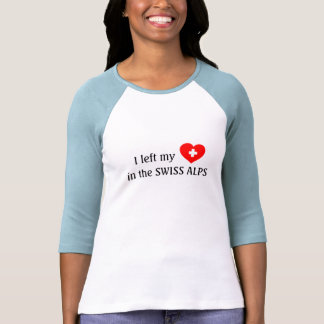 Ame las montañas - camiseta suiza del recuerdo playera