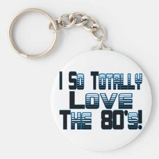 Ame los años 80 llaveros personalizados