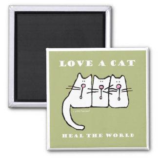 Ame los gatitos de un gato tres iman