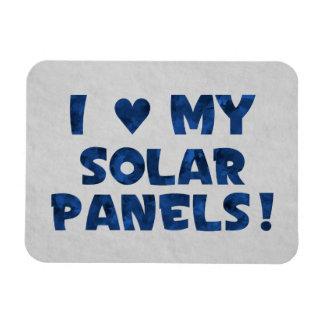Ame los mis paneles solares imán foto rectangular