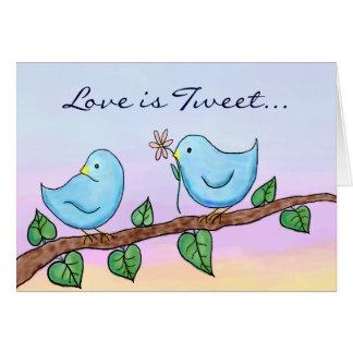 Ame los pájaros, amor es pío… tarjeta de felicitación