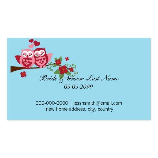 ame los pájaros novia y dirección de comienzo de tarjetas personales