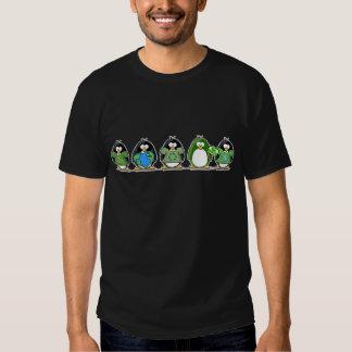 Ame los pingüinos de la tierra playera