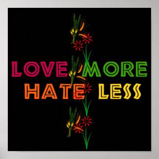 Ame más odio menos póster