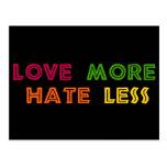Ame más odio menos tarjeta postal