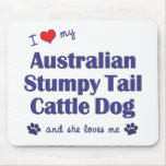Ame mi Aust. Perro achaparrado del ganado de la co Tapetes De Ratón