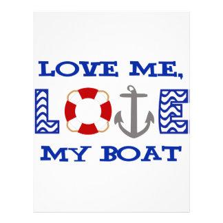 Ame mi barco membrete personalizado